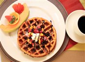 Mixed Fruit Waffles