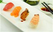 Sushi (Salmon, Tuna, BBQ Eel, Cooked Shrimp)