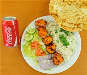 Chicken Breast Rice & Naan Combo