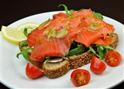 Smoked Salmon and Arugula Sandwich
