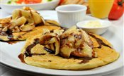 Cornmeal Griddle Cakes with Banana Chocolate