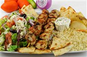 Chicken Souvlaki Dinner (2 skewers)