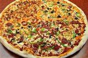 Half Supreme/ Half Veggie Pizza