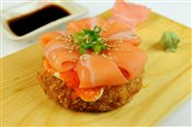 Sushi Pizza with Salmon