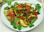 Stir Fried Beef with Cripsy Rice Noodle