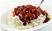 General Tso Chicken on Rice - Lunch & Late Night Menu