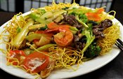 Crispy Fried Noodle with Assorted Meats & Vegetables