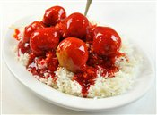 Sweet and Sour Chicken Balls on Rice- Lunch & Late Night Menu