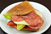 Salami and Provolone Sandwich
