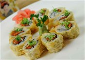 Spicy Tuna Tempura Roll (8 pcs)   $7.95