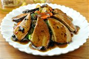 Veggie Fish with Black Bean Sauce