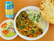 Veggie, Rice & Naan Combo
