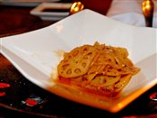 Wok-tossed lotus root