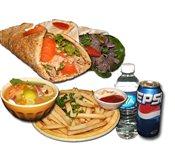 1 Shawarma and 1 Tuna Combo