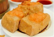 Fried Bean Curd with Stuffed Shrimp Paste in Soy Sauce