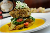 Roasted Pistachio Crusted Sea Bass
