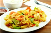 Spicy Chicken & Prawns with Vegetables   $11.95