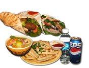 1 Shawarma and 1 Falafel Combo