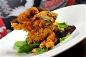 Soft Shell Crab & Blue Cheese Sauce