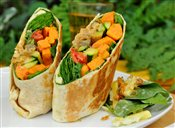 Oven Roasted Veggie Wrap
