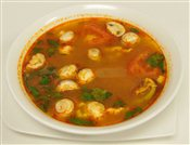 Thai Tom Yum Soup With Shrimp   $4.95