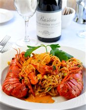 Lobster with Angel Hair Pasta