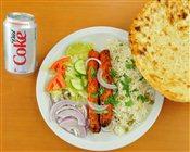 Kebob Rice & Naan Combo
