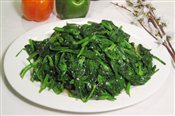 Snow Pea Leaves with Chopped Garlic