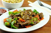 Beef with Green Peppers in Black Bean Sauce