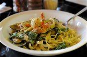 Seafood Medley (pesto & Fettuccine)