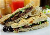 Pulled Beef Short Ribs Panini