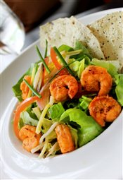 Tandoori Grilled Shrimp Salad