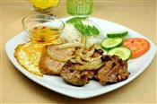 Grilled Ginger Chicken on Rice