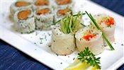 Spicy Tuna Rolls & Rice Paper Rolls