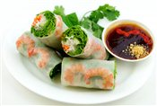 Rice Vermicelli Rolls (Shrimp)   $2.95