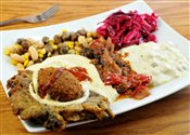 Falafel Combo with Bean Soup