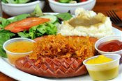 Knackwurst Sausage and Sauerkraut