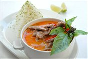 Panang Curry   $with Beef: 8.75,   with Chicken: 8.75,   with Shrimp: 9.75,