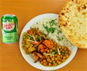 Chicken, Veggie, Rice & Naan Combo