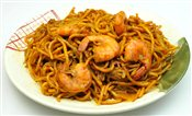 Singapore Style Fried Prawn Noodle