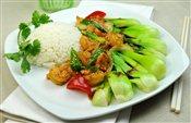Stirfry Shrimp with Coconut Milk on Rice