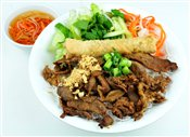 Grilled Pork & Spring Rolls with Vermicelli   $6.00