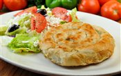 Spanakopito with Greek Salad