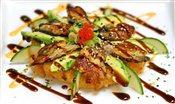 BBQ Eel & Avocado Sushi Pizza