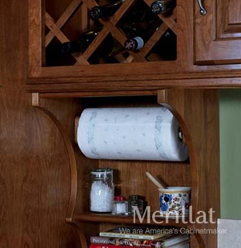 Wall Paper Towel Holder and Shelf