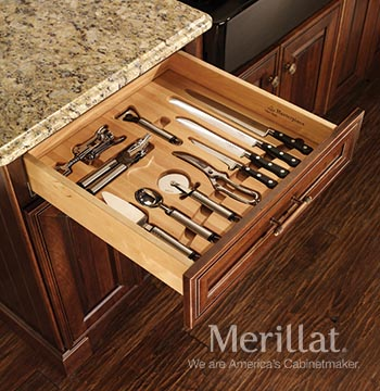Utensil and Carving Ensemble for Base Cabinets