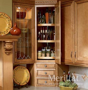 Wall Angle Cabinet with Lazy Susan