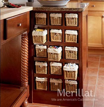Base Wicker Spice Storage
