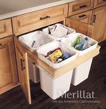 Base Top Mount Wastebasket (Recycling Center)