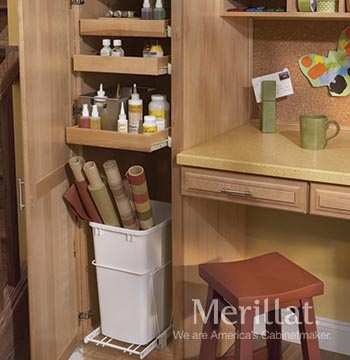 Utility Cabinet with Pull-out Waste Basket Kit